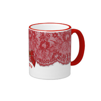 Bows,Lace,jewels Initial,Name,Logo coffee mug cup