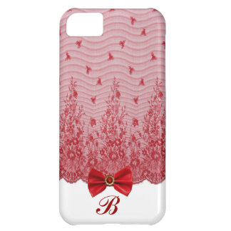 Bows,Lace & jewels iPhone 5 Initial Case iPhone 5C Cases