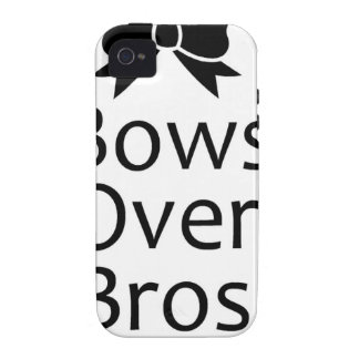 bows over bros- black case for the iPhone 4