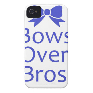 Bows Over Bros- Blue iPhone 4 Covers