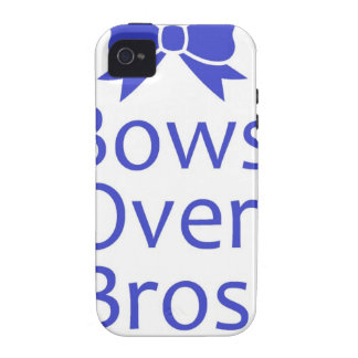 Bows Over Bros- Blue Case-Mate iPhone 4 Cases