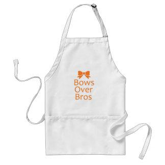 Bows over Bros- Orange Adult Apron