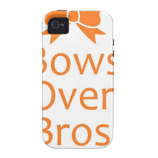 Bows over Bros- Orange iPhone 4/4S Cover