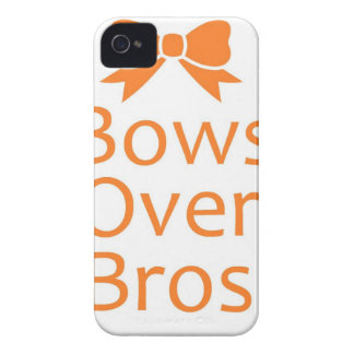 Bows over Bros- Orange iPhone 4 Cover