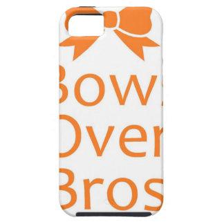 Bows over Bros- Orange iPhone 5 Case