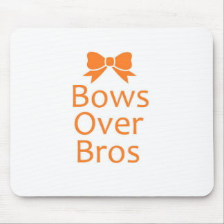Bows over Bros- Orange Mouse Pad
