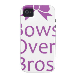 Bows over bros- Purple Case-Mate iPhone 4 Case