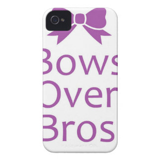 Bows over bros- Purple Case-Mate iPhone 4 Cases