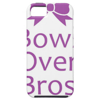 Bows over bros- Purple iPhone 5 Covers