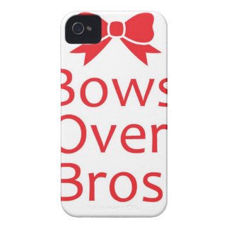 Bows over Bros-Red iPhone 4 Cases