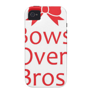 Bows over Bros-Red Vibe iPhone 4 Cover
