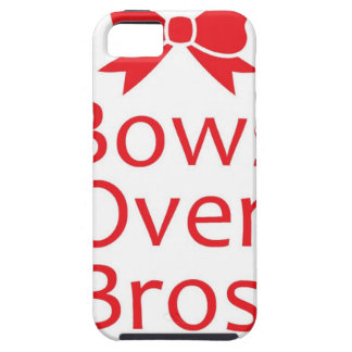 Bows over Bros-Red iPhone 5 Case