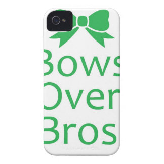 Bows over brows- green iPhone 4 covers