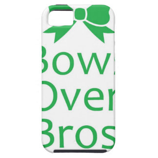 Bows over brows- green iPhone 5 cases