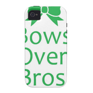 Bows over brows- green iPhone 4/4S cover