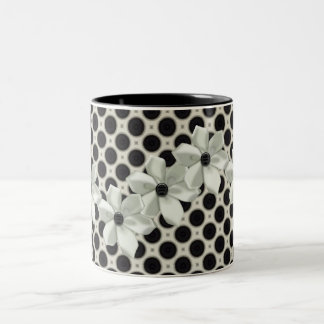 Bows & Polka Dot Matching Sets Two-Tone Coffee Mug