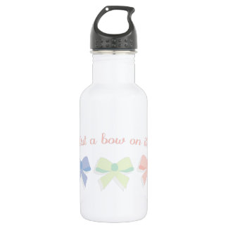bows_Put a bow on it! 18oz Water Bottle