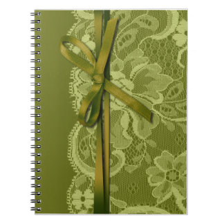 Bows Ribbon & Lace Bridal Planner grass Notebook