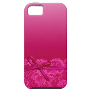 Bows Ribbon & Lace | fuschia iPhone SE/5/5s Case