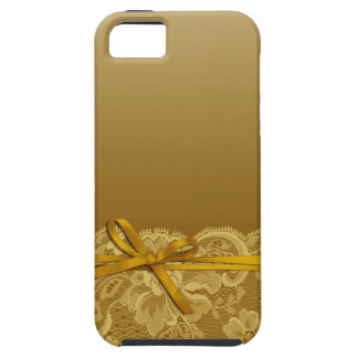 Bows Ribbon & Lace | gold iPhone SE/5/5s Case