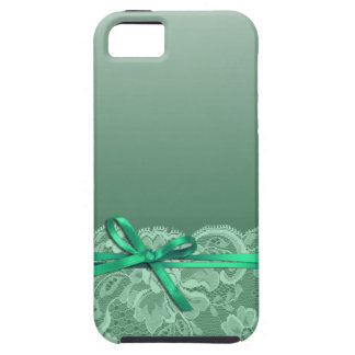 Bows Ribbon & Lace | mint iPhone 5 Cover