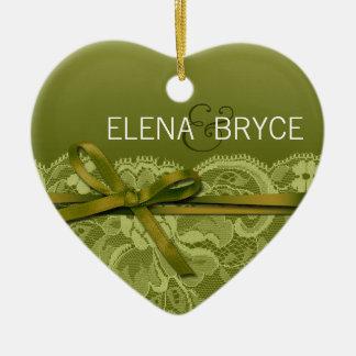 Bows Ribbon & Lace Photo | grass Ceramic Ornament