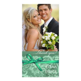Bows Ribbon & Lace Photo mint Card
