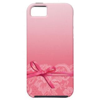 Bows Ribbon & Lace | pink iPhone SE/5/5s Case