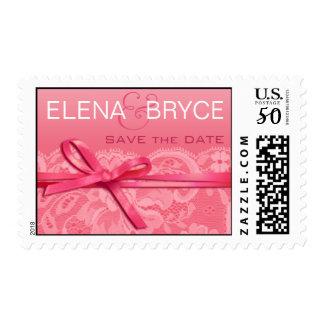 Bows Ribbon & Lace | pink Postage