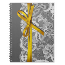 Bows Ribbon & Lace Planner gray yellow