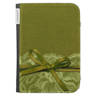 Bows Ribbon Lace with Burlap grass Kindle 3G Cover