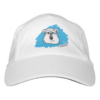 Bowser la gorra de béisbol del Schnauzer (blanca) Gorra De Alto Rendimiento