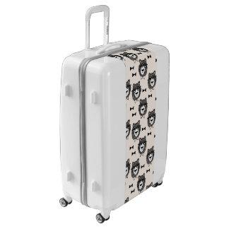 Bowtie Bear - Cream Black White / Andrea Lauren Luggage
