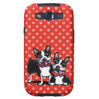 Bowtie Boston Terriers Off-Leash Art™ Galaxy SIII Cases