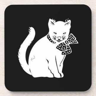 Bowtie Cat Beverage Coaster