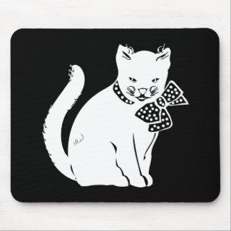 Bowtie Cat Mouse Pad