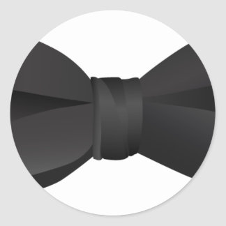 bowtie de la pajarita pegatina redonda