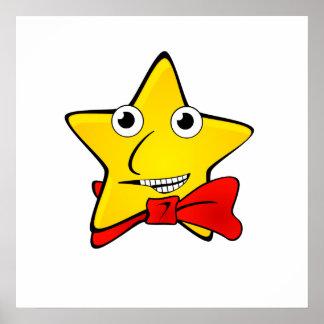 Bowtie Star Cartoon Poster