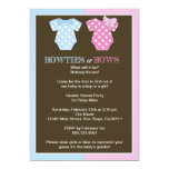 Bowties or Bows Gender Reveal Invitaition Invitations
