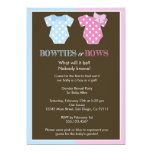 "Bowties or Bows? Gender Reveal Invitation 5"" X 7"" Invitation Card"