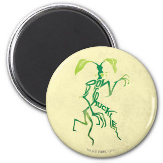 Bowtruckle Typography Graphic 2 Inch Round Magnet