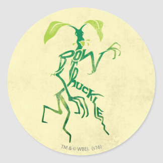 Bowtruckle Typography Graphic Classic Round Sticker
