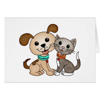 BowWow and MeeYow [Happy Pets, Smiles & Cheer] Card