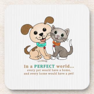 BowWow and MeeYow (Pet Adoption-Humane Treatment) Coaster
