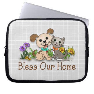 BowWow and MeeYow (Pet Adoption-Humane Treatment) Computer Sleeve