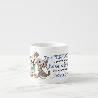 BowWow and MeeYow (Pet Adoption-Humane Treatment) Espresso Cup