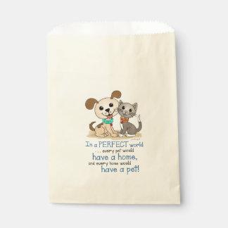 BowWow and MeeYow (Pet Adoption-Humane Treatment) Favor Bag