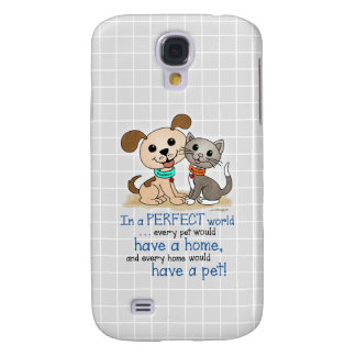 BowWow and MeeYow (Pet Adoption-Humane Treatment) Galaxy S4 Case