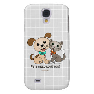 BowWow and MeeYow (Pet Adoption-Humane Treatment) Galaxy S4 Cover