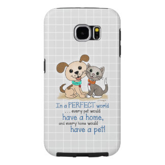 BowWow and MeeYow (Pet Adoption-Humane Treatment) Samsung Galaxy S6 Cases